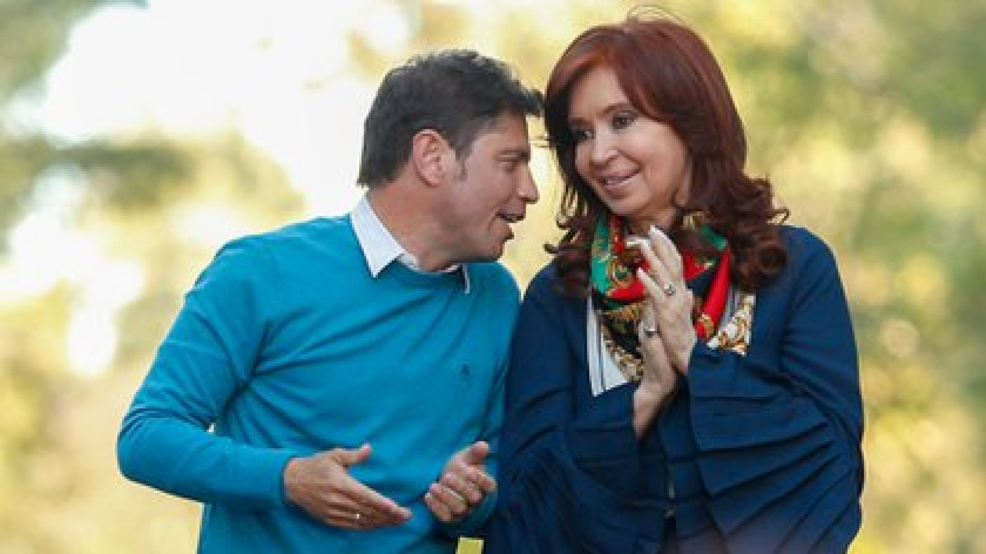 En cambio, Axel es el gobernador elegido por Cristina Kirchner.