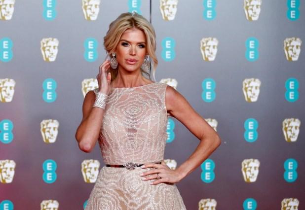 Victoria Silvstedt en una foto de febrero de este año a su llegada a los BAFTA (Reuters)
