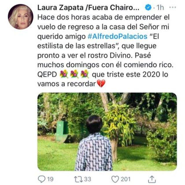 Laura Zapata contó que en fechas recientes convivió frecuentemente con él, incluso iban juntos al mercado a comprar fruta (Foto: Captura de pantalla)