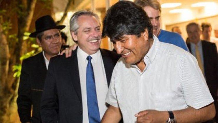 Alberto Fernández felicitó a Evo Morales por el triunfo del MAS