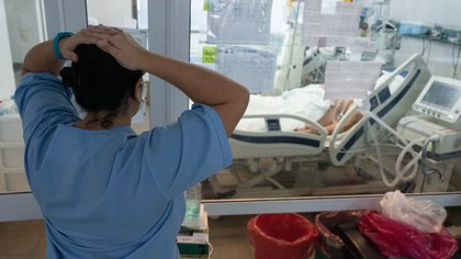 Unidad de terapia intensiva del Hospital General San Martin La Plata, Buenos Aires, Argentina (Foto: Franco Fafasuli)