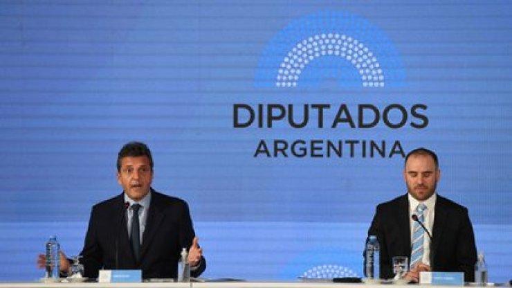 Sergio Massa y Martín Guzmán (Maximiliano Luna)