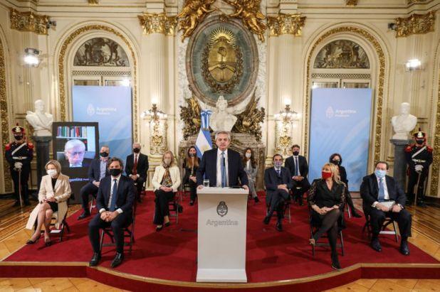 Alberto Fernández en el anuncio de la reforma judicial (Presidencia)