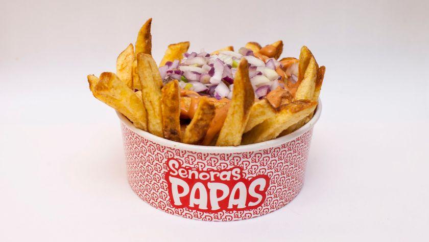 Papas fritas con mix de cebollas por Señoras Papas