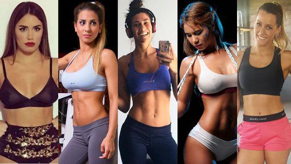 Famosas haciendo ejercicios