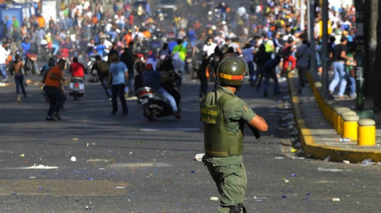 La represión contra las movilizaciones opositoras de 2017 en Venezuela fue brutal.