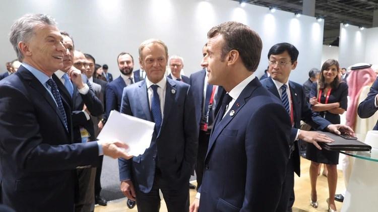 Macri y Emmanuel Macron fueron claves en las negociaciones (Foto: Presidencia)