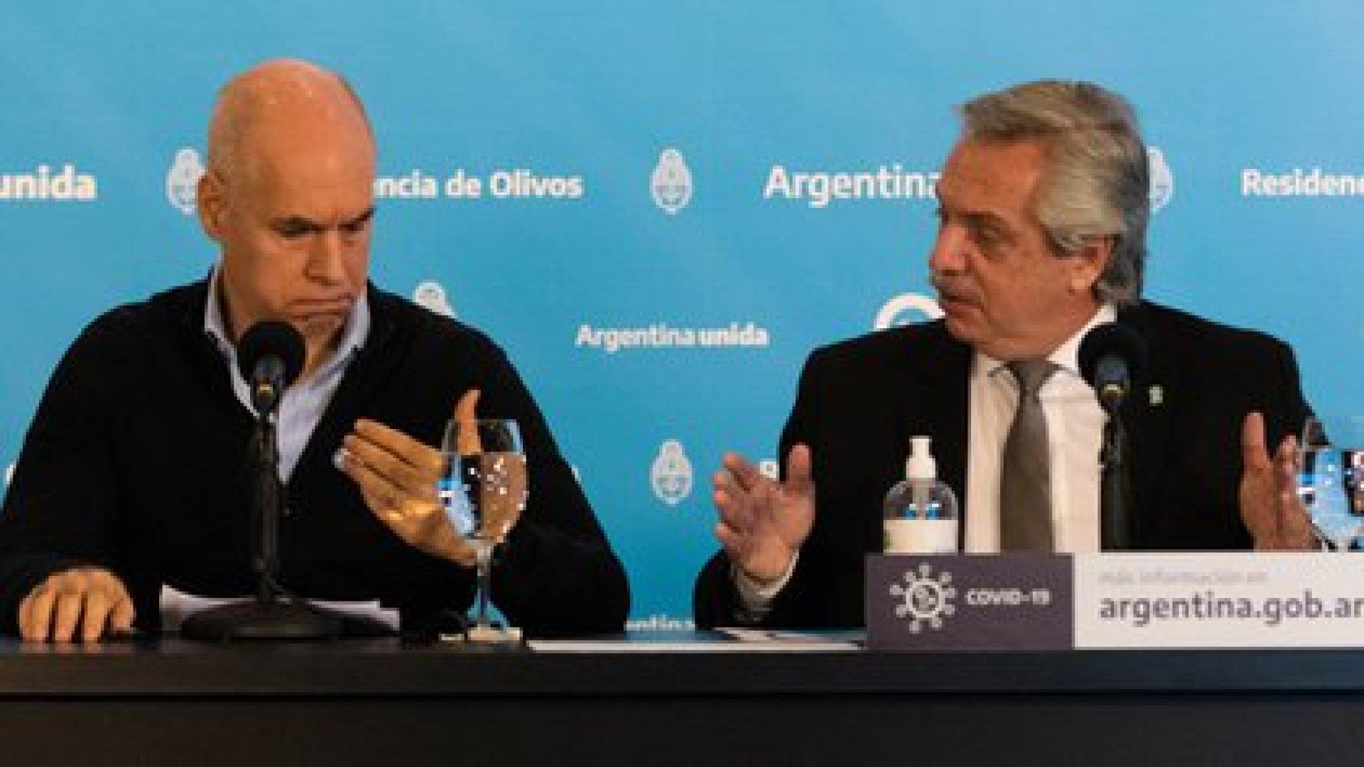 Alberto Fernández y Horacio Rodríguez Larreta en la quinta presidencial de Olivos