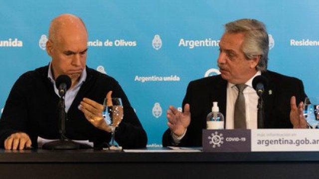 Alberto Fernández y Horacio Rodríguez Larreta en la quinta de Olivos