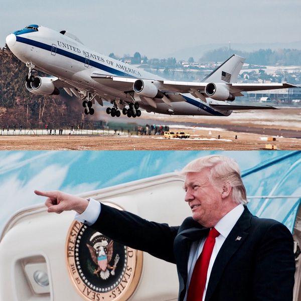 """Existen cuatro E-4B en servicio, parte de una flota diseñada en base al Boeing 747 con la finalidad de ser la """"sombra"""" del Presidente de los EEUU donde quiera que vaya"""
