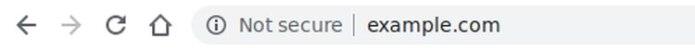 Ejemplo de cómo Google marca un sitio no seguro en la barra de búsqueda (Foto: Google)