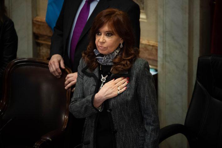 Sesión Senado 18/06/20 - Santiago Cafiero - Cristina Kirchner CFK - Congreso (Foto: Franco Fafasuli)