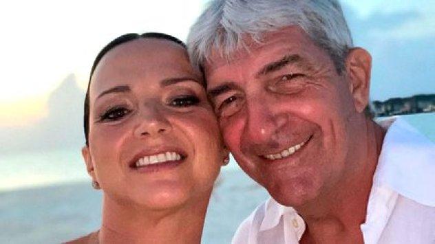 Paolo Rossi y su esposa Federica Cappelletti.