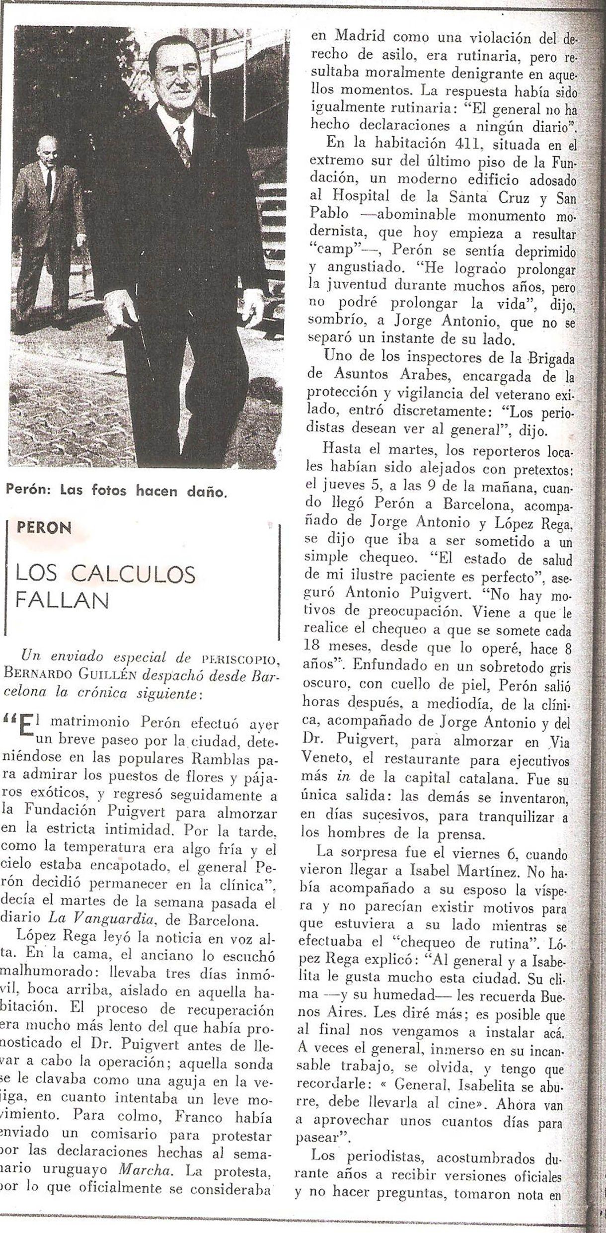 """""""He logrado prolongar la juventud durante muchos años pero no podré prolongar la vida"""", aseguró Periscopio que un deprimido Perón le había dicho a Jorge Antonio"""