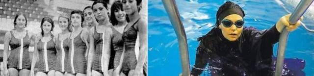 La evolución de los trajes de baño femeninos en Irán