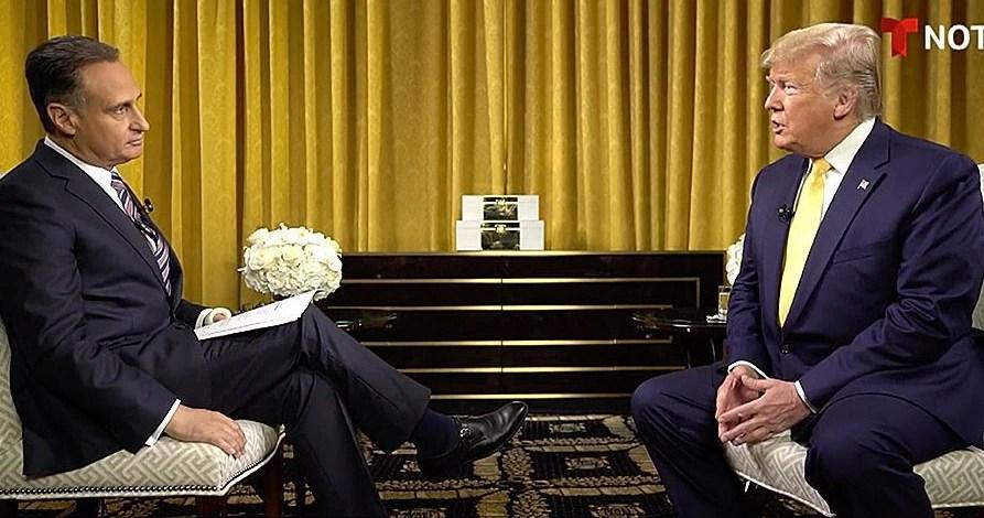 Díaz-Balart junto a Donald Trump.