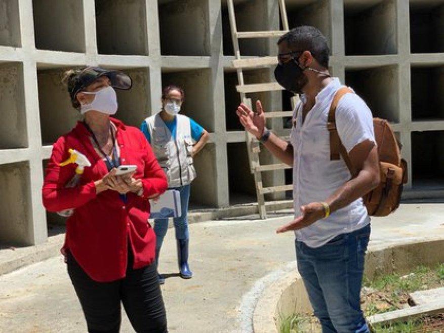 Правительство строит 700 новых хранилищ, чтобы предотвратить скопление трупов.  Фото: Facebook Правительство Сан-Андрес