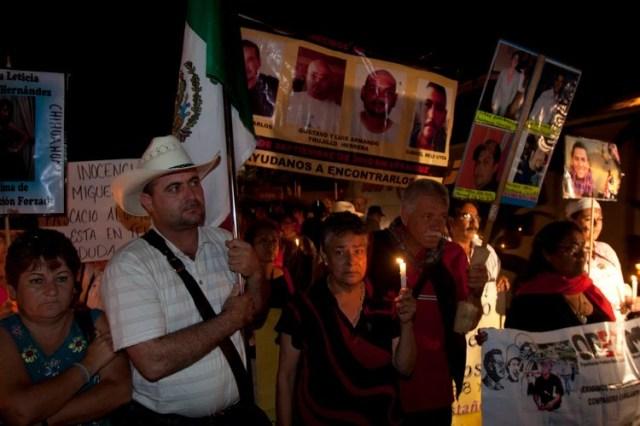Julián LeBarón durante una marcha que se realizo por calles de Palenque como parte de las actividades de la Caravana al Sur del Movimiento por la Paz con Justicia y Diginidad (Foto: Cuartoscuro)