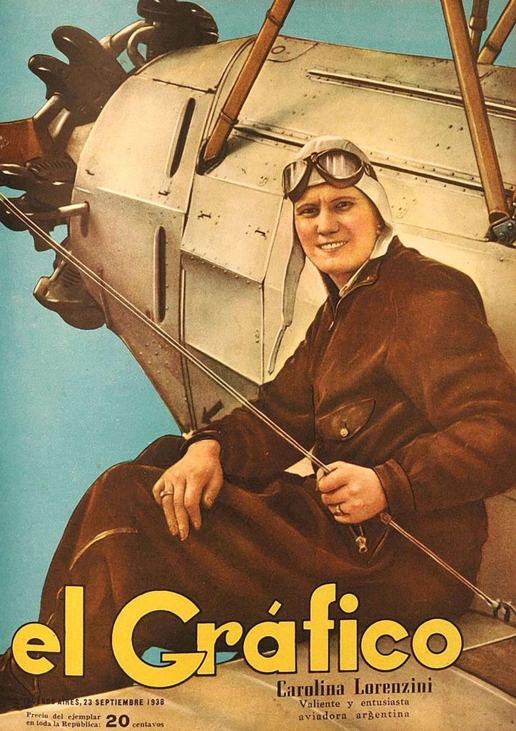 """Por su popularidad, la aviadora llegó a la tapa de la revista """"El gráfico"""" en la década del '30"""