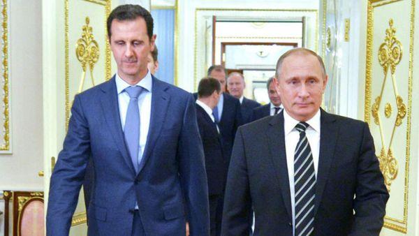 Bashar Al-Assad y Vladimir Putin: el pueblo sirio se inclinaría por los favores del jefe del régimen ruso por sobre el régimen iraní