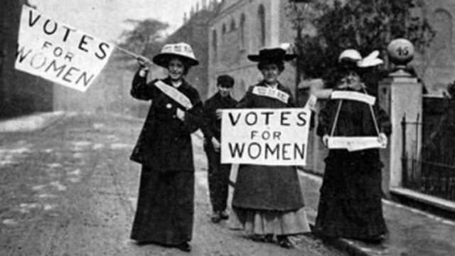 El derecho al voto, uno de los primeros reclamos de las mujeres.