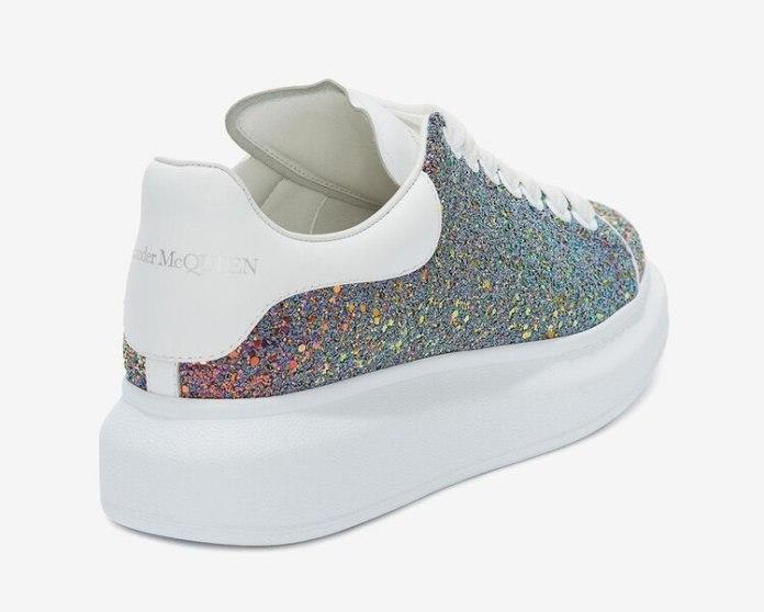 Zapatillas con glitter y en el talón con el grabado de la marca (alexandermcqueen)