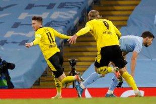 Scoring one goal per hour, Manchester City beat Borussia Dortmund in the Champions League.