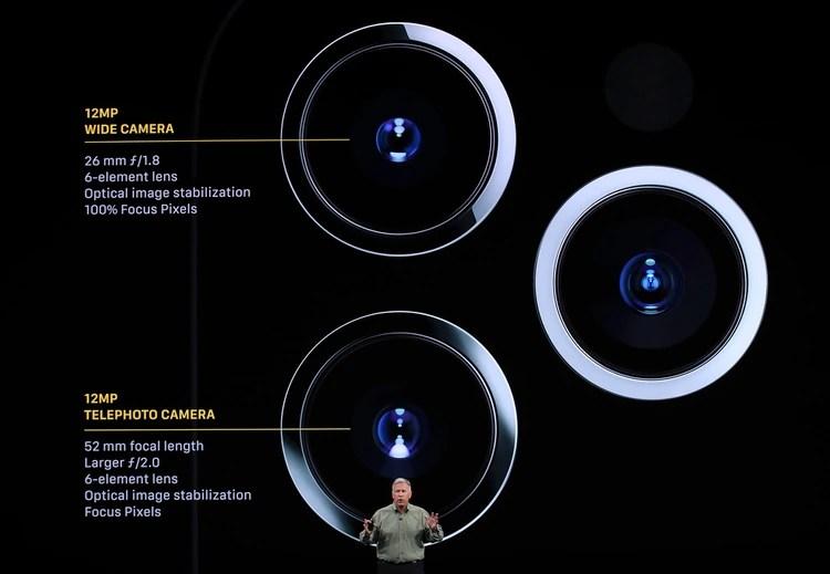 El iPhone 11 Pro cuenta con triple cámara trasera (Justin Sullivan/Getty Images/AFP)