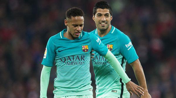 La buena relación entre Luis Suárez y Neymar se aprecia dentro y fuera de la cancha (Getty)