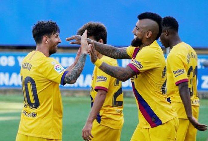 Messi se despachó con un doblete y una asistencia en la goleada del Barcelona ante el Alavés   REUTERS/Vincent West