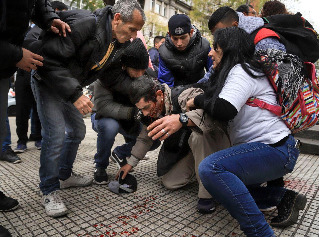 Varios manifestantes resultaron heridos