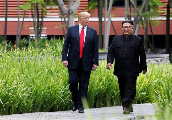 Trump aceptó suspender las maniobras militares con Corea del Sur y Japón como garantía para las negociaciones con Corea del Norte (Reuters)