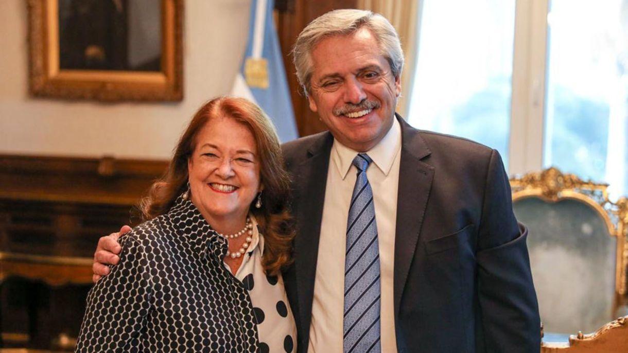 Alicia Castro el día que Alberto Fernandez le ofreció la embajada en la Federación Rusa.