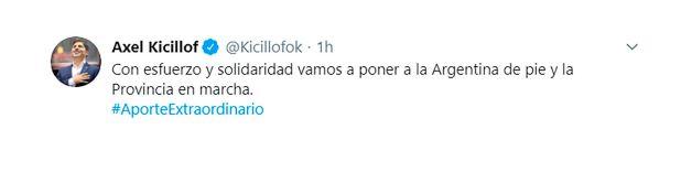 tuits intendentes respaldan impuesto a la riqueza kicillof
