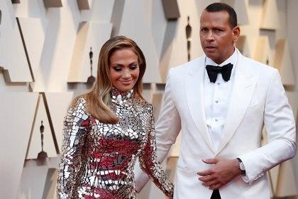 Jennifer Lopez y Alex Rodriguez (Reuters)