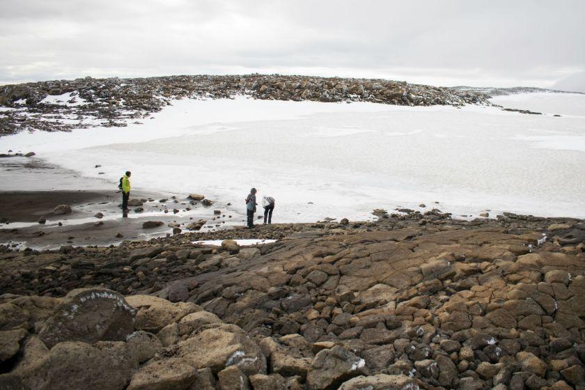 Lo que queda del glaciar (AFP)