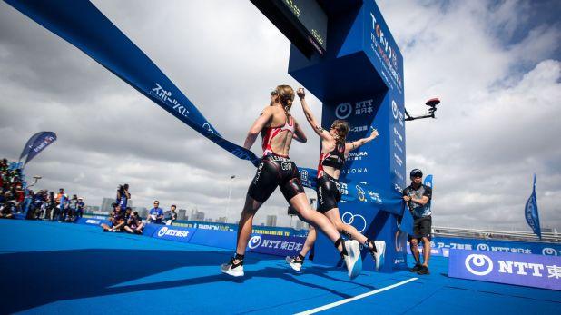 Las triatletas británicas fueron descalificadas de la competencia por no demostrar esfuerzo por ganar (Crédito: World Triathlon)