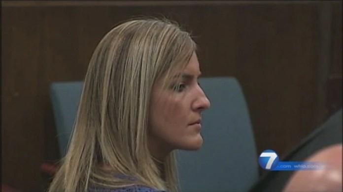 Jessica Langford, durante el juicio en su contra