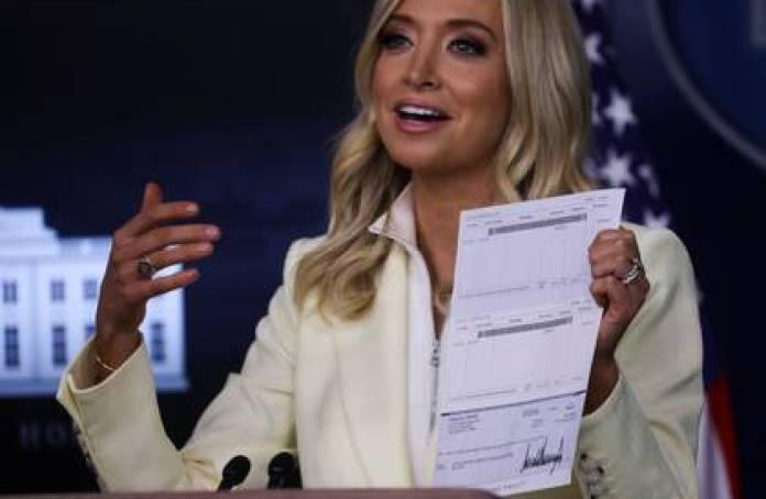 La secretaria de Prensa de la Casa Blanca, Kayleigh McEnany. Foto: REUTERS/Leah Millis