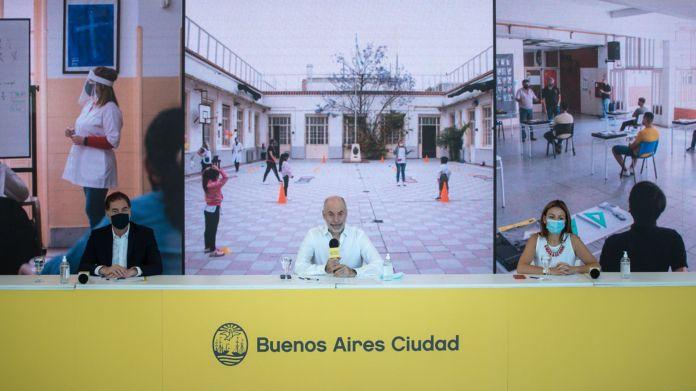Horacio Rodríguez Larreta - Vuelta a Clases Escuela - Ciudad de Buenos Aires