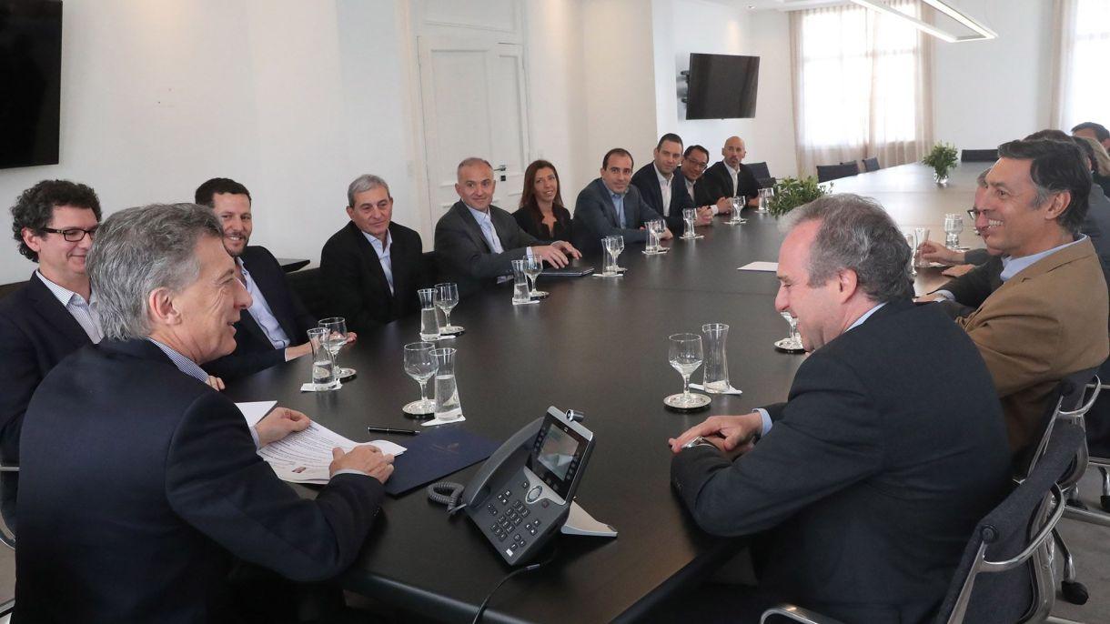 Macri recibió a los miembros de la AmCham en Olivos (foto: Presidencia)