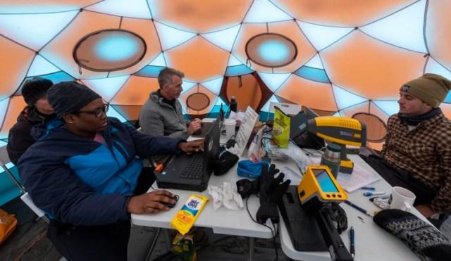 El campamento de científicos que trabajaron en el lugar (AFP)