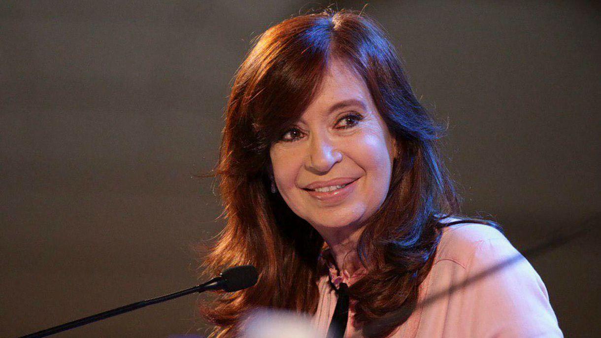 Cristina Kirchner durante la presentación de su libro en Santiago del Estero