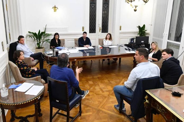 Marcos Cleri con Máximo Kirchner y Sergio Massa