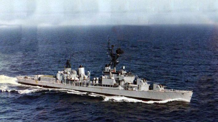 El destructor ARA Piedrabuena, ex USS Collett