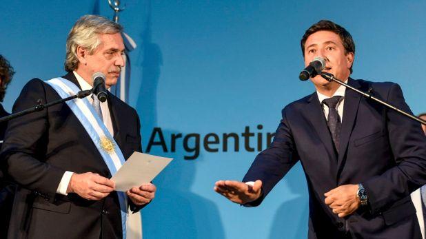 Daniel Arroyo, en su jura como ministro de Desarrollo Social (NA/ PRESIDENCIA)