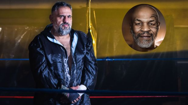 Masseroni con un circulito de Mike Tyson,