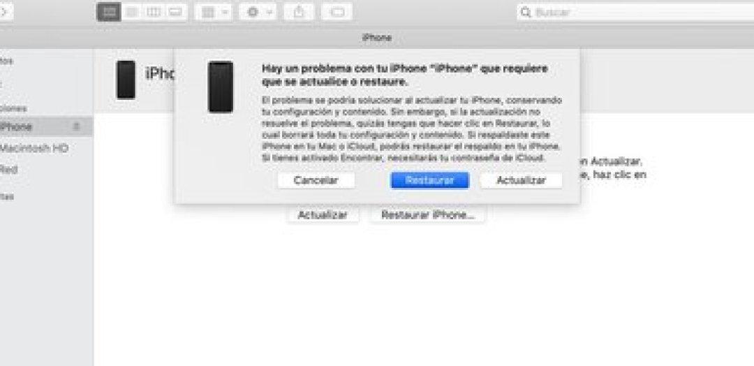 Seguir los pasos en pantalla para restablecer el iPhone (captura de pantalla de Apple).