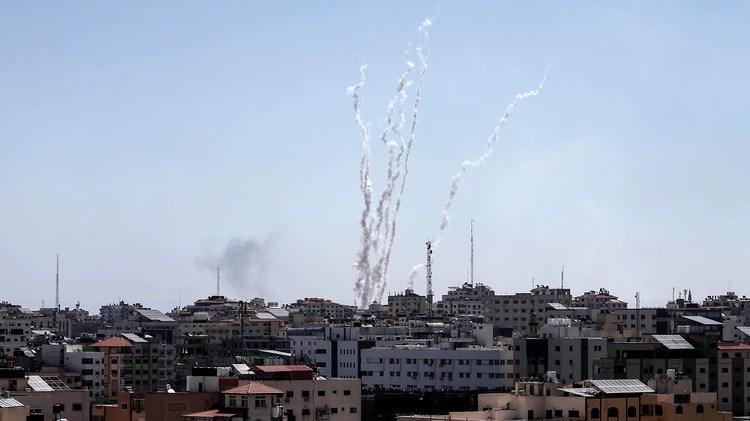 (Photo by MAHMUD HAMS / AFP)