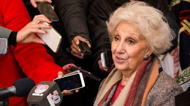 Estela de Carlotto, presidente de Abuelas de Plaza de Mayo, hará el anuncio en las próximas horas